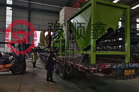 年产5万吨有机肥生产线设备发往安徽阜阳