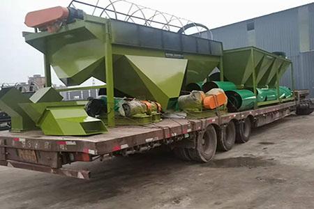 年产3万吨有机肥生产线设备发往山西