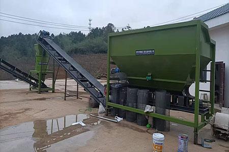 贵州年产五万吨生物菌肥设备安装现场