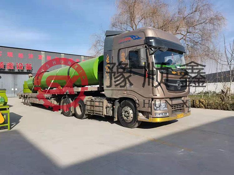 年产6万吨猪粪有机肥生产设备发往安阳