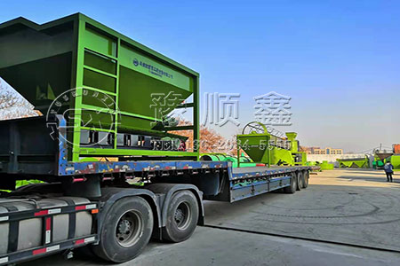 牛粪加工有机肥产线设备发往湖北荆州