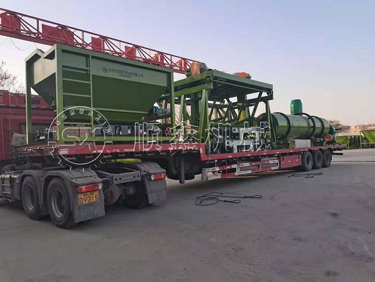 年产7万吨有机肥产线设备发往焦作